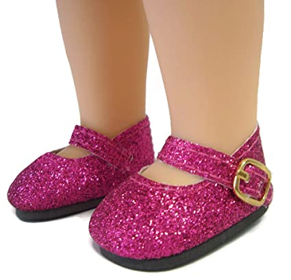 Buy Doll Clothes Sew Beautiful Hot Pink Glitter Shoes For American Girl  Wellie Wishers Dolls By Dcsb Online at Low Prices in India - Amazon.in 2a4ab669d