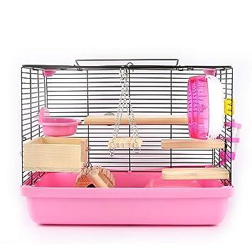 DRKJ Base De Hámster Jaula Hamster Conejillo De Indias Paquete De ...