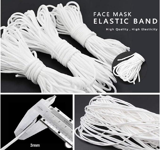 18 inch Elastic SHOCKING PINK Elastic Colored Skinny Elastic 3mm Elastic Cord Face Mask Soft Elastic Quick Ship from USA Face Mask Elastic