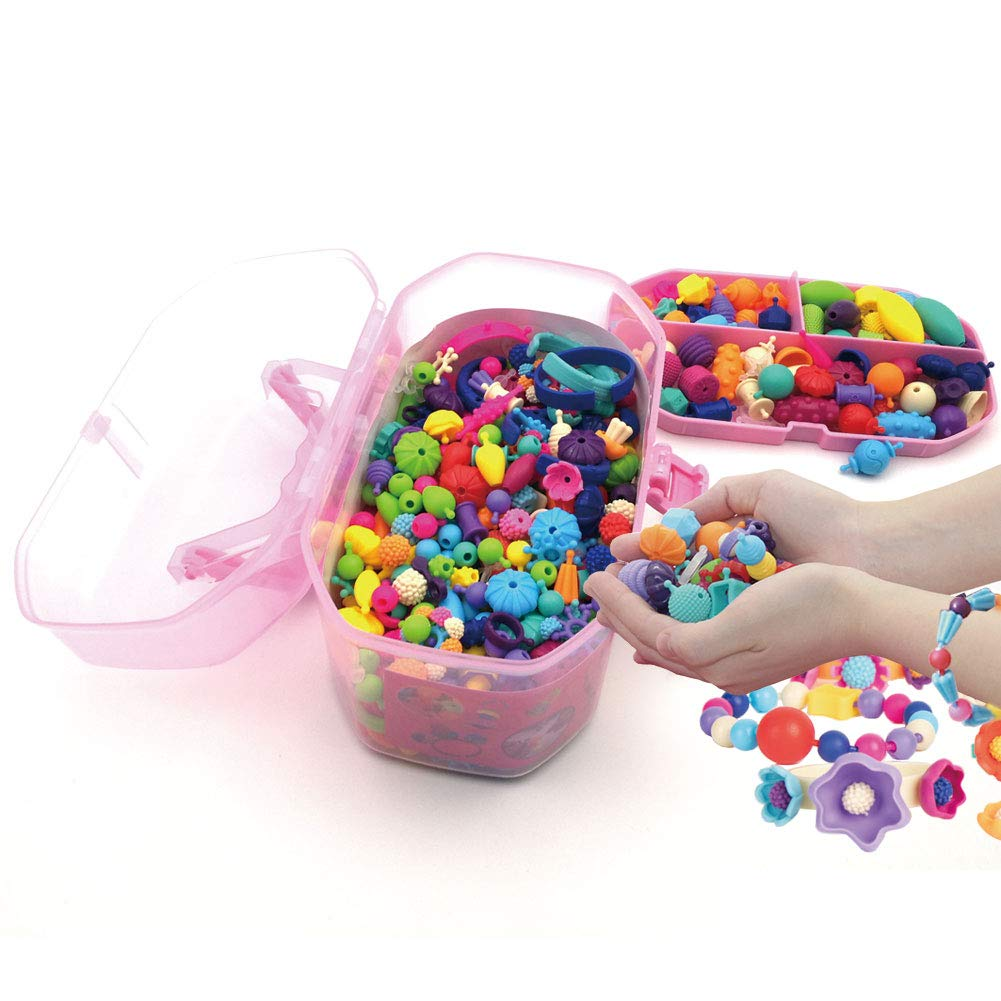 Pop Beads Jewelry Making Kit Arts And Crafts For Girls Age 3 4