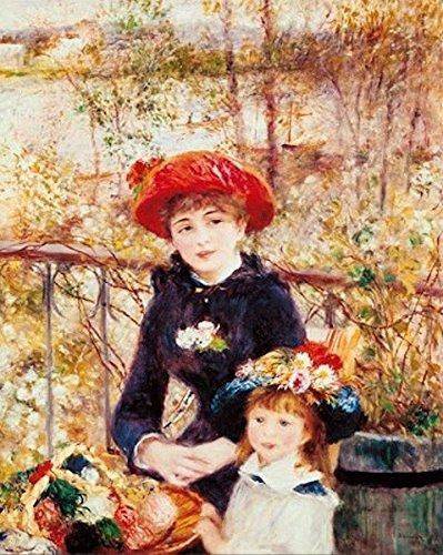 Stampa su Tela Canvas Renoir, Sulla Terrazza (XIX sec.) 50x70cm ...
