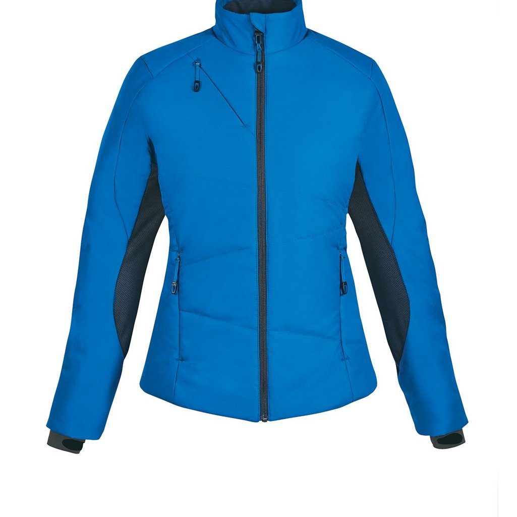 Ash City Ladies North End Sport Immerge Insulated Hybrid Jacket (X-Small, Olympic Blue)