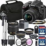 Nikon D3400 DX-format Digital SLR w/ AF-P DX NIKKOR 18-55mm f/3.5-5.6G VR + 64GB Memory Accessory Bundle – International Version