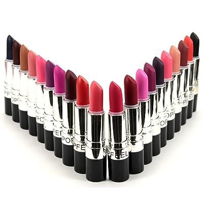 bureze popfeel 20colores vampiro labios Stick Negro Morado Pintalabios exagerado color nude brillante maquillaje Comes