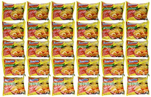 (Indomie Instant Noodles Soup Chicken Curry Flavor for 1 Case (30 Bags))
