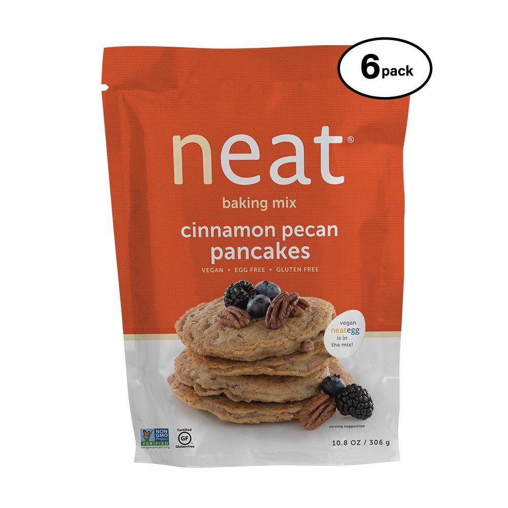 neat - Plant-Based - Cinnamon Pecan Pancakes Mix (10.8 oz.) (Pack of 6) - Non-GMO, Gluten-Free, Soy Free, Baking Mix