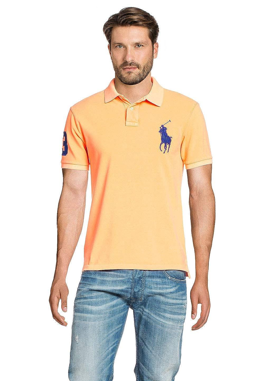 Polo Ralph Lauren Knits Mesh MenŽs Polo Shirt Melon, tamaño:S ...