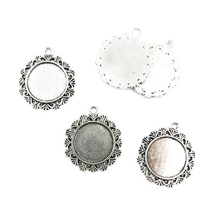 Amazon.com: 110 Pcs Jewelry Making Charms 824PW Round Setting ...