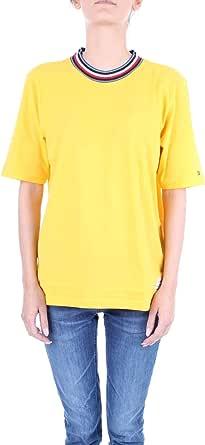 Tommy Hilfiger Tira C-nk tee SS Camiseta para Mujer