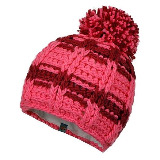 Amazon.com  Obermeyer Ski School Knit Beanie Neo-Pink Kids Girl s L ... 629b9fffd0f7
