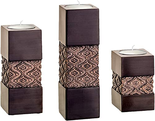Tealight Candle Holders Table Decor Gift Set of 3