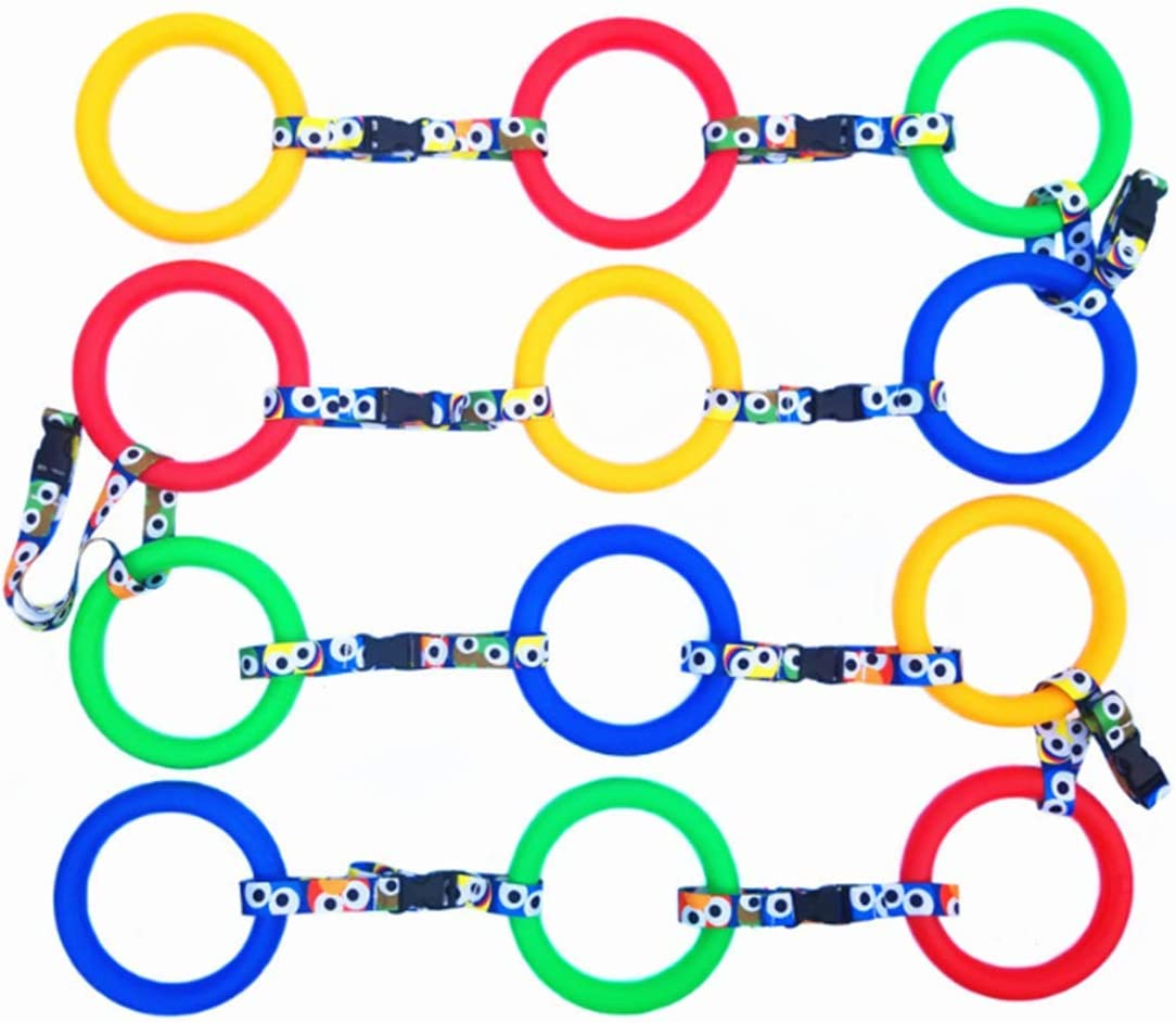 12 Rings Suitable for Teaching Kindergarten Childrens Anti-Lost Rope Detachable Assembly Outdoor Childrens Safety Rope