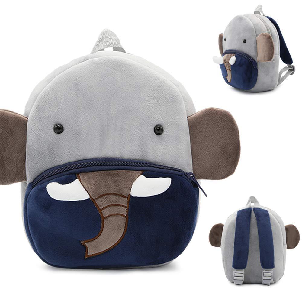 Bolsa para ni/ños peque/ños Bolsas Escolares Lindas para ni/ños de 2-5 a/ños Elefante Regalo para ni/ños de jard/ín de Infantes Mochila de Dibujos Animados para Animales