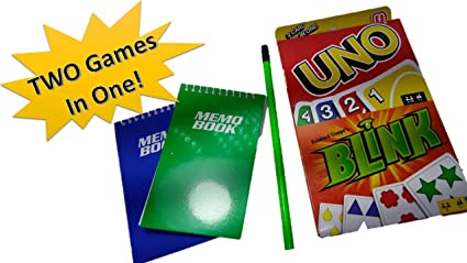 Amazon Com Uno Card Game Blink Card Game Combo Pack Get Two