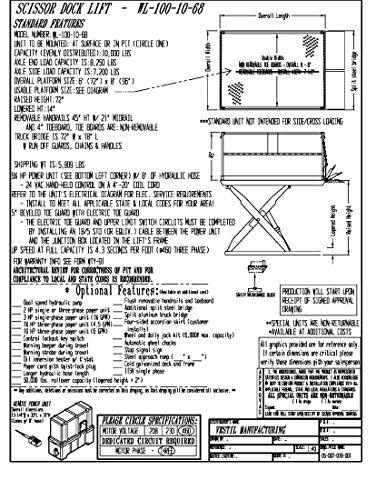 vestil wl 100 10 68 premium truck scissor dock lift 10000 lb Generator Fuses vestil wl 100 10 68 premium truck scissor dock lift 10000 lb capacity platform 6 x 8 steel painted brown yellow amazon industrial scientific