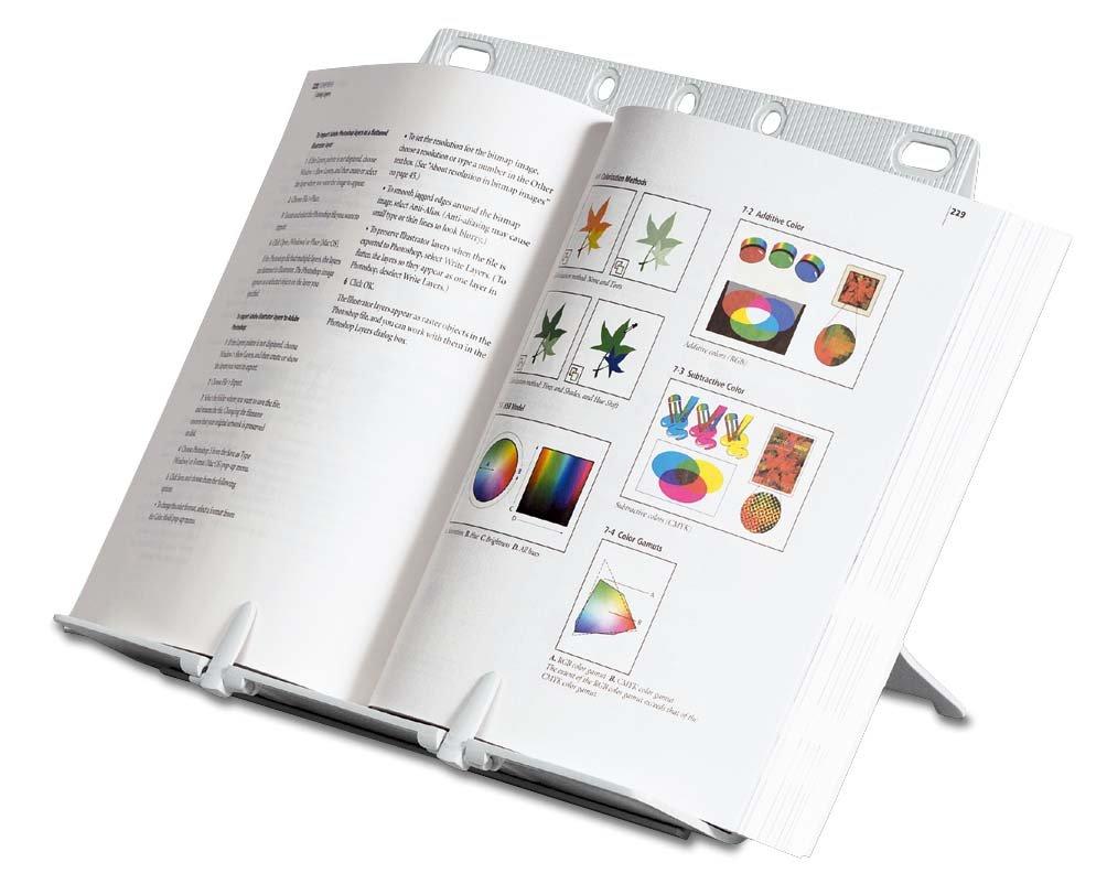 Fellowes Booklift Konzepthalter hält bis zu 150 Blatt silber: Amazon ...