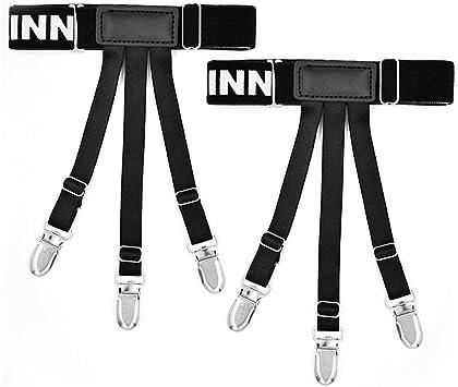 Camisa de Hombre Estancias Ligas Leggings Ajustables elásticos Faja Antideslizante Liga de Resistencia al Pliegue Cinturones elásticos de Alta Elasticidad: Amazon.es: Juguetes y juegos