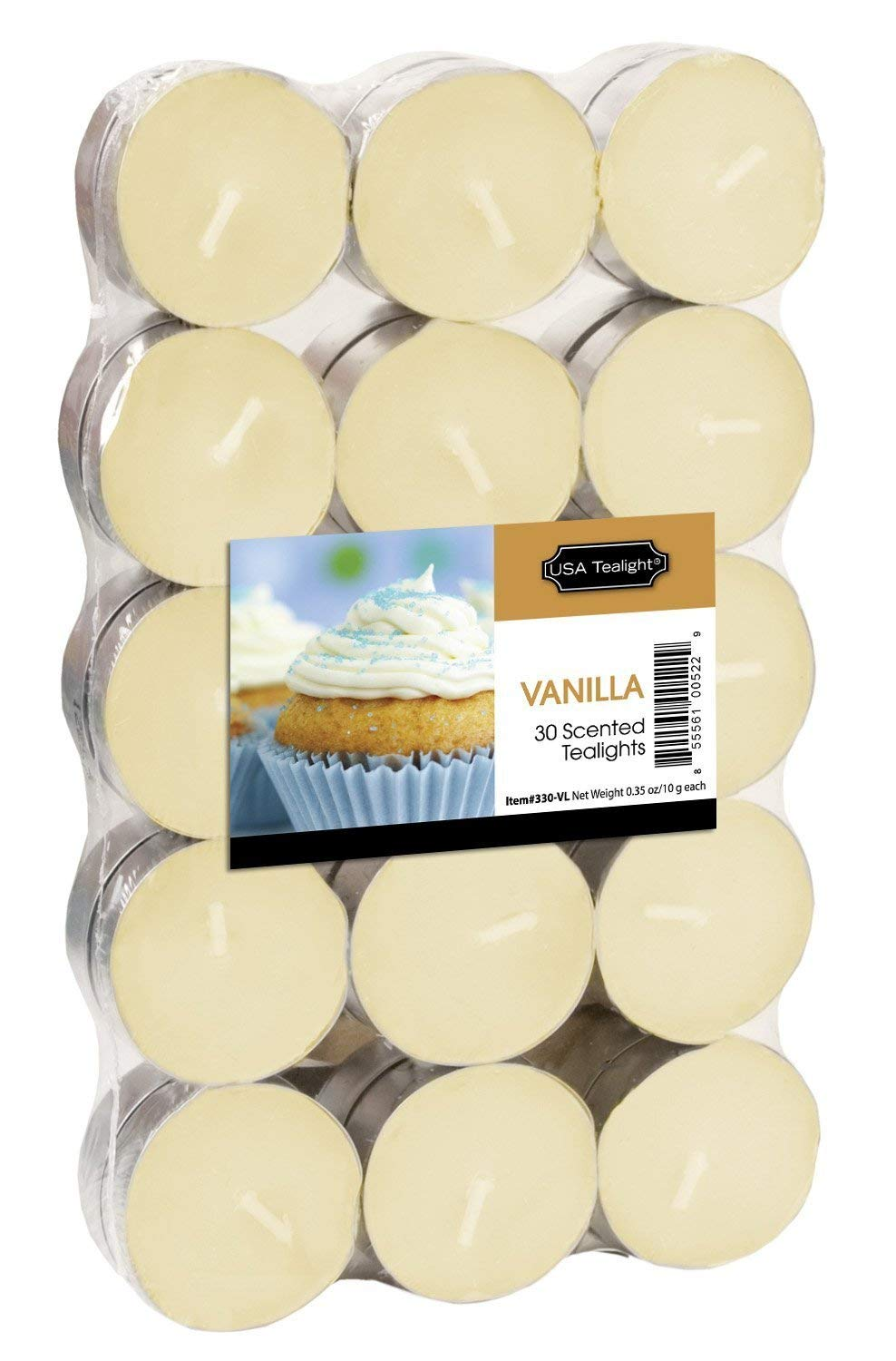 USA Tealight French Vanilla Tealights, 30-Pack - Pack of 4