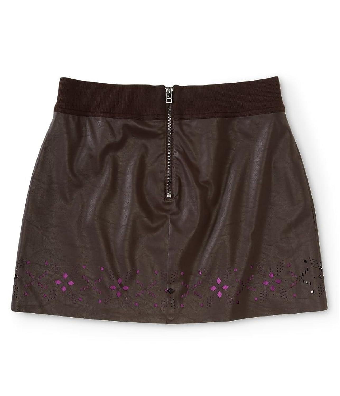 Aeropostale Womens Pleather Diamond Mini Skirt