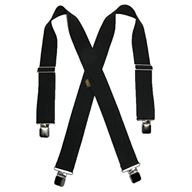 7d234b92e Welch Men s Elastic Clip-End 2 Inch Work Suspenders