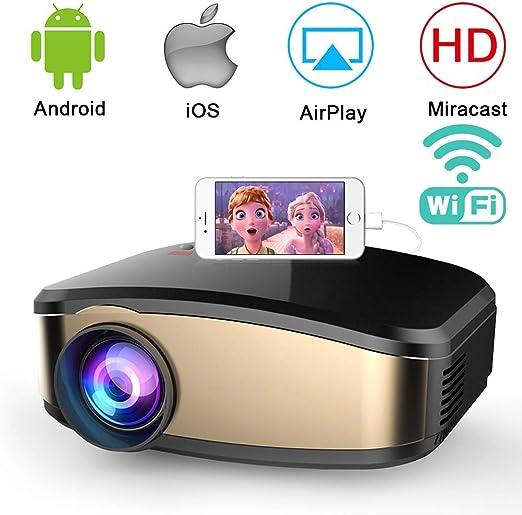 AI LIFE Proyector de Video WiFi Proyector de película inalámbrico ...