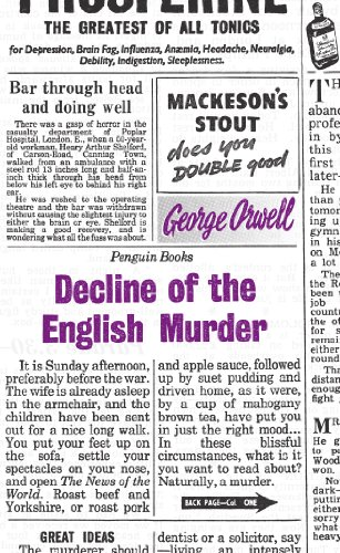 Great Ideas Decline of the English Murder (Penguin Great Ideas) (Great American Crime Decline)
