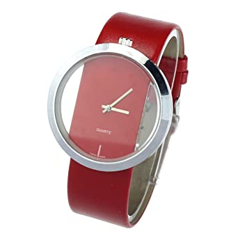 Armbanduhr rot damen
