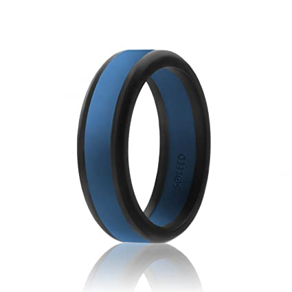 Amazon Com Soleed Silicone Wedding Ring For Men Power X Series
