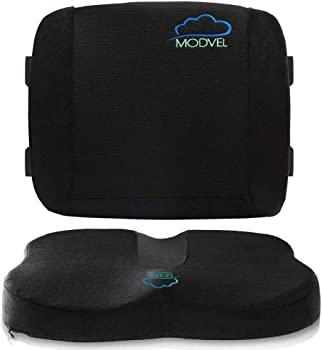 Modvel Lumbar Support Pillow for Office Chair and Car Seat Cushion