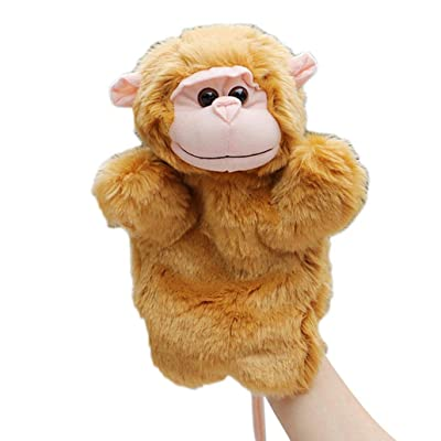 Cuiedailqhb Parent Kids Cute Monkey Hand Puppet Soft Animal Pretend Play Stuffed Plush Toy - Mother Monkey: Toys & Games