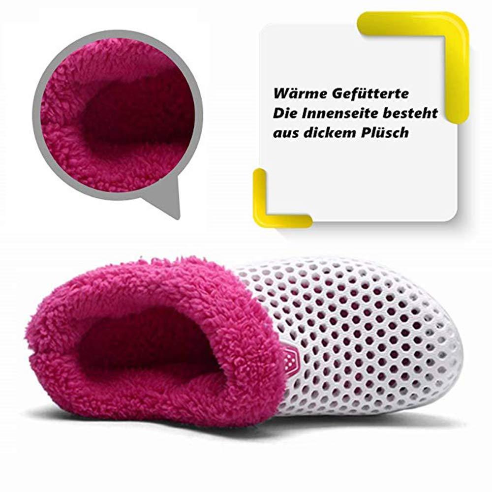 Sfit Herren//Damen Winter Loch Hausschuhe Pl/üsch Clogs Pantoffeln gef/üttert H/üttenschuhe Warme Winterschuhe Kuschelig Slippers Indoor