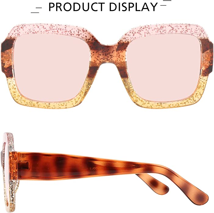 6c85d906c2e ROYAL GIRL Oversized Square Sunglasses Women Inspired Multi Tinted Frame  Fashion Modern Shades