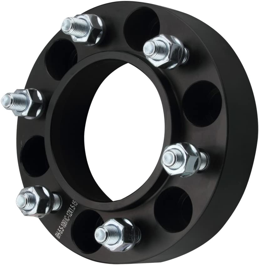 1.5 Wheel Spacers 6x5.5 with 12x1.5 Studs for 1996-2019 4Runner,2001-2019 Tacoma,2000-2006 Tundra,2007-2014 FJ Cruiser,2001-2007 Sequoia GDSMOTU 2pc Hubcentric Wheel Spacers for Toyota 6 Lug