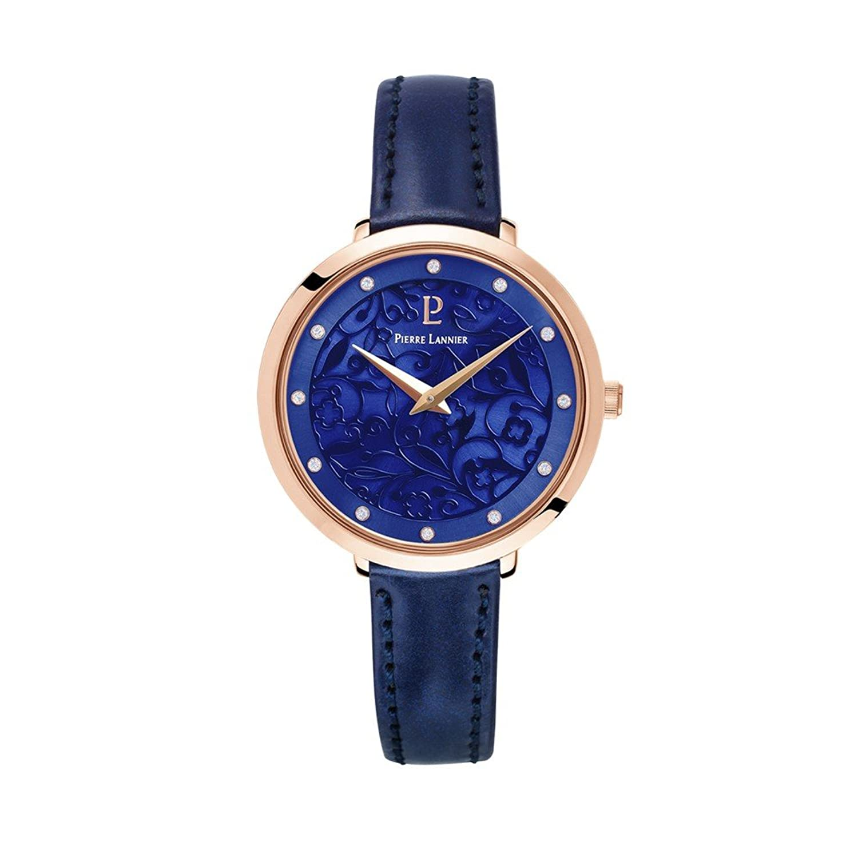 Women 's Watch Pierre Lannier – 039l966 – Eolia – rose-goldとネイビー – レザーストラップ  B07D2MJW2M