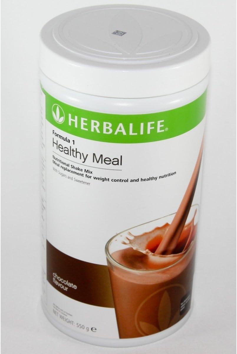 HERBALIFE Programa de desayuno - Fórmula 1 chocolate, Concentrado de aloe sabor mango, Bebida instantánea de té melocotón: Amazon.es: Salud y cuidado personal