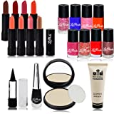 adbeni Face & Nails Tuning Combo Makeup Sets For Women Pack Of 20