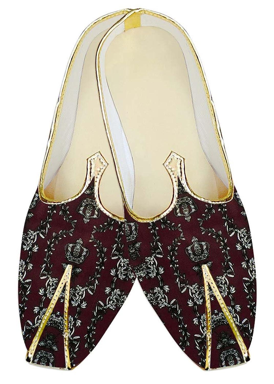 INMONARCH Diseñador Vino Hombres Boda Zapatos Poliéster MJ14865 44 EU