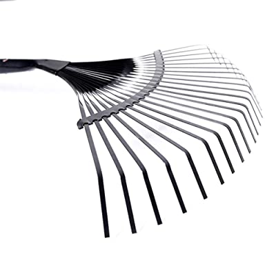 Glossrise 22 Tooth Adjustable Garden Grass Leaf Rake Folding Head for Quick Clean Up: Home & Kitchen