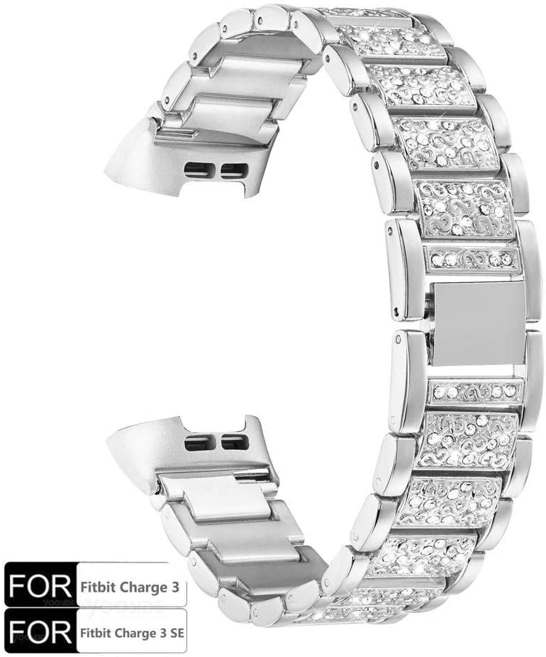 Onedream Bracelet Compatible pour Fitbit Charge 2 Bracelets Femme Homme Bracelet Metal en Acier Inoxydable Accessoire R/églable Sport Bande Compatible avec Fitbit Charge 2