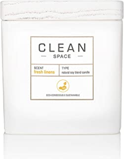 product image for CLEAN SPACE Candle | Natural Soy Blend Scented Candle | Premium Non-Toxic Candle Made with Sustainable Ingredients | Up to 40 Hour Burn Time | 8 oz
