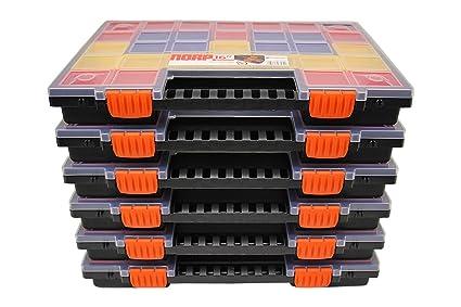 Juego de 2 a 6 cajas organizadoras, organizador NORP16, para herramientas, compartimentos de