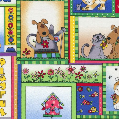 quilt fabric dogs - 4