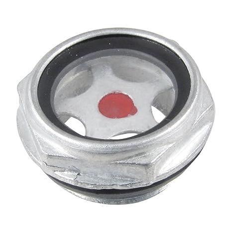 TOOGOO(R) 26mm Macho de rosca Metal Visor de nivel de aceite de Compresor de aire