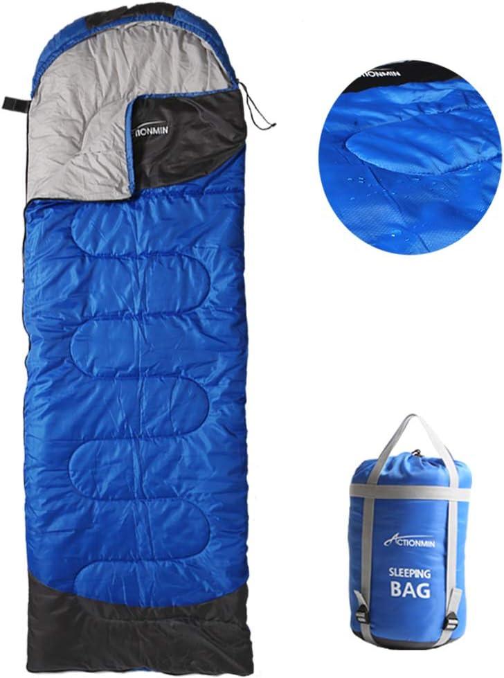 ACTIONMIN Camping Sleeping Bag – 4 Season Lightweight Portable Waterproof Sleeping Bag Great for Cold Weather Camping – Outdoor Activities Hiking, Backpacking, Traveling Sleeping Bag