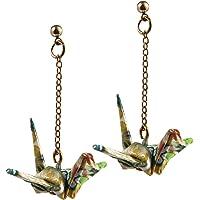 Consign beautiful wish 1000 paper crane ear nail crane ear nail needle, ear clip tassel ear line