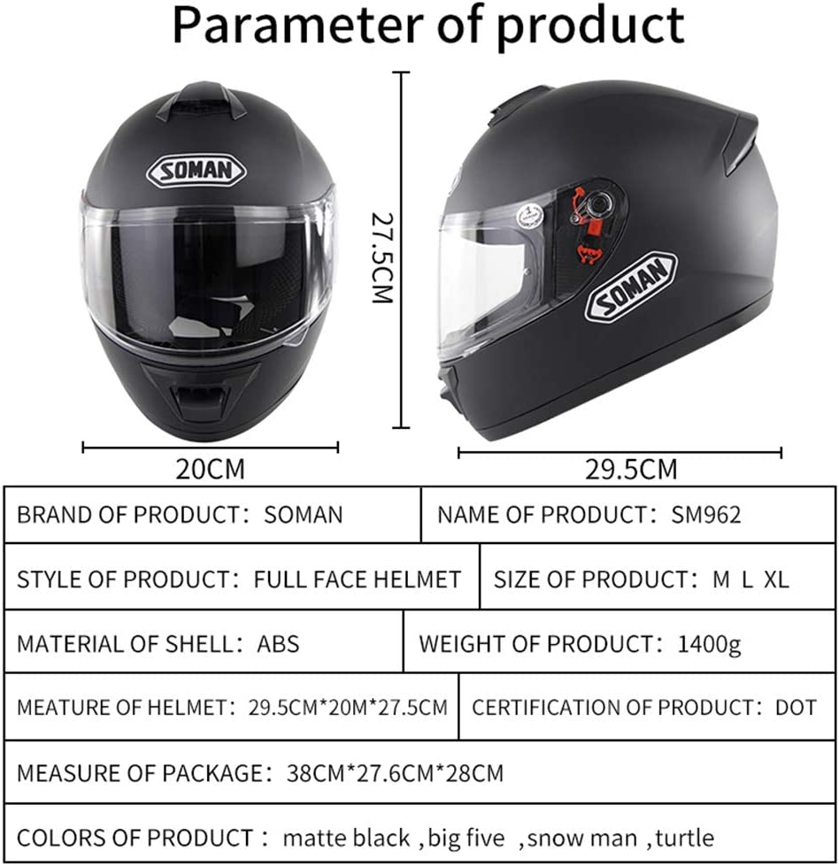 para Mujer Hombre Adultos Motocicletta Scooter Doble Visera Casco OD-B Casco de Moto Integrale