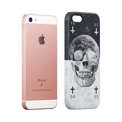 Black & White Realistic Human Skull Card Hard Thin Plastic Phone Case Cover  For iPhone 7 Plus & iPhone 8 Plus: Amazon.co.uk: Electronics