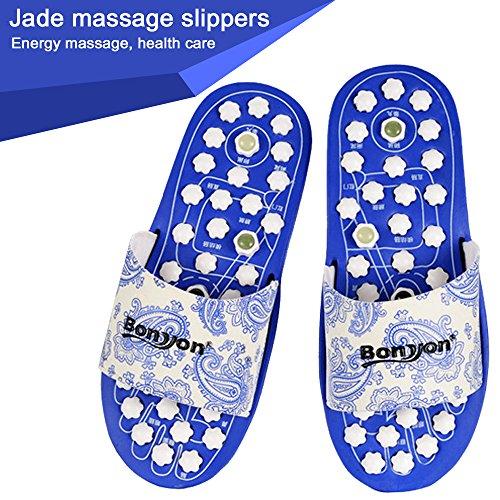 BonYon Massage Slippers,Foot Massage Slipper Jade Stone Massage Shoes, Acupoint Foot Massage Plate Slippers (S:US5.5-7.5=UK4.5-6.5=EUR36-40)