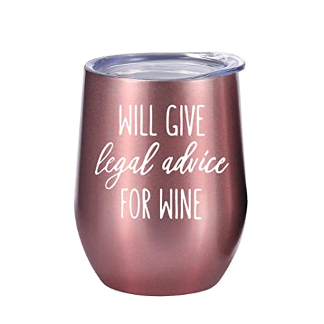 Amazon.com: Lawyer Gifts – Vaso o taza para vino o café de ...