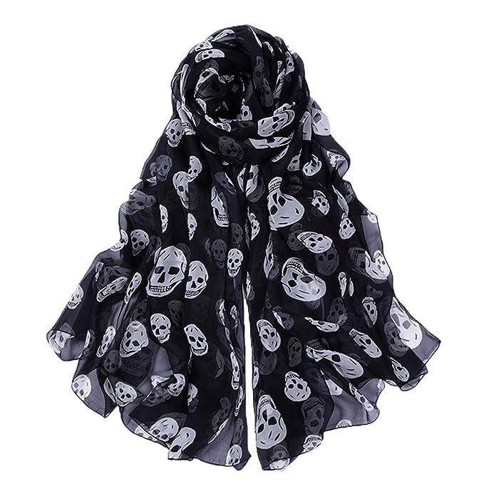 Amazon.com: Bufanda de gasa, bufanda de calavera, bufanda de ...